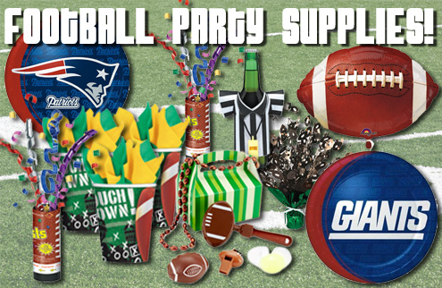 Superbowl and Football Party Supplies